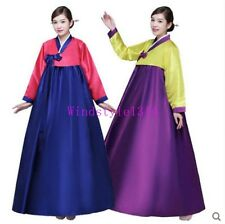 Korean Traditional Ladies Court Long Dress Ancient Hanbok Perform Costume Casual