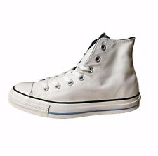 Converse Chuck Taylor All Star Double Tongue Hi White/Navy Canvas Shoes Sneaker