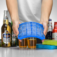 NEW 24 Grid DIY Creative Big Ice Cube Mold Square Shape Silicone Ice Tray Maker