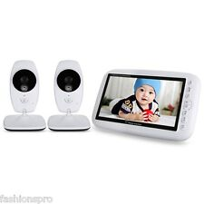 "7.0"" 2.4GHz Wireless TFT LCD 2 Camera Video Baby Monitor Infrared Night Vision"