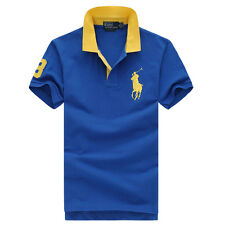 2017 POLO MEN'S CASUAL GOLF TYPE SHORT SLEEVE ADULT ATHLETIC SIZE S M L XL XXL