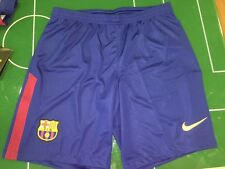 FOOTBALL SHORTS SHORTS NIKE 2017/2018 BARCELONA BREATHE HOME BLU