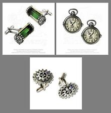 New Alchemy Gothic Pewter Empire Cosplay Steampunk Themed Cufflinks UK Made