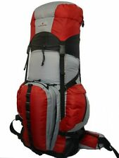 Large Hiking Backpack Red Camping Backpack Travel Daypack Bag Expandable 8000ci