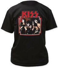 Kiss: 1975 Group Photo T-Shirt   Free Shipping  Official