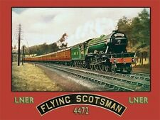 THE FLYING SCOTSMAN STEAM TRAIN METAL WALL PLAQUE TIN SIGN VINTAGE NOSTALGIC 366