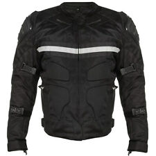Xelement CF-751 Men's Black Motorcycle Breathable Armored Tri-Tex Jacket size M