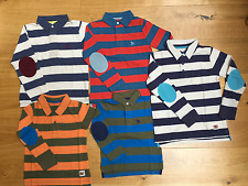 BOYS NEW X MINI BODEN POLO RUGBY TOP TSHIRT ELBOW PATCH 2 3 4 5 6 7 8 9 10 yrs
