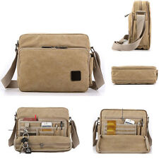 Vintage Style Men's Canvas Shoulder Satchel School Military Messenger Travel Bag