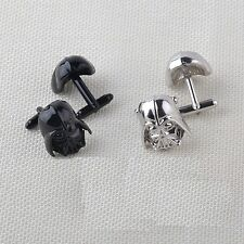 Stainless Steel Darth Vader Vintage Mens Wedding Gift Classical Plated Cufflinks