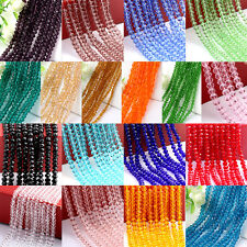 4/6/8/10mm Rondelle Faceted Crystal Glass Loose Beads Diy Findings MulticolorE5Y