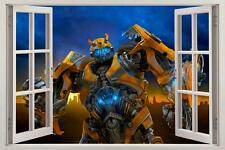 BUMBLEBEE Transformers 3D Window View Decal WALL STICKER Home Decor Art Mural