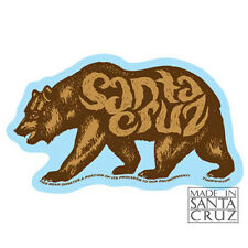 Santa Cruz or California Bear Sticker - Bumpersticker Vinyl Decal by Tim Ward