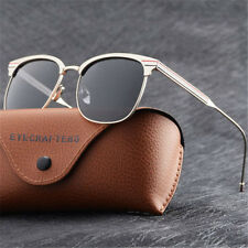Mens Brand Designer Polarized Sunglasses Fashion Retro Vintage Cat Eye Eyewear