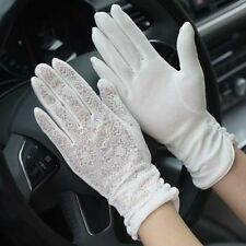 Women's Lace Gloves Summer UV Protection Driving Gloves Wedding Bridal Mittens