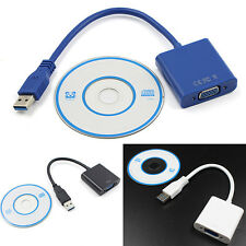 High Quality USB 3.0 to VGA Video Graphic Card Display External Cable Adapter$