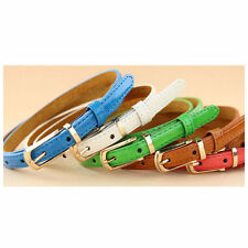 Fashion Leather Candy Color Belts Decorative Small Belt Multicolor for Women