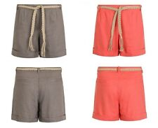 Ladies Casual Linen Shorts Cool Summer Wear Womes Hot Pants with Drawstring