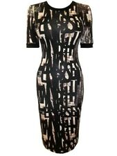 New~Topshop newsprint alphabet pattern stretch jersey dress~ 6 8 10 12