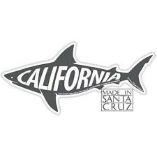 Santa Cruz or California Shark Sticker - Bumpersticker Vinyl Decal Tim Ward