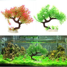 Aquarium Fish Tank Decor Artificial Plants Plastic Grass Ornaments Decorations