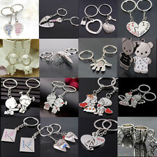 2PCS LOVE HEART SYMBOLS KEY CHAIN RING KEYRING KEYFOB LOVER COUPLES GIFT USEFUL