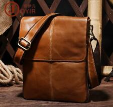 High-end Cowhide Leather Expandable Attache Briefcase Cross Body Shoulder Bag