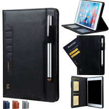 iPad mini 1/2/3/4 Air /9.7 PRO Smart Leather Case Wallet Card Stand Folio Cover