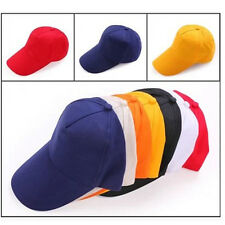 Popular Plain Fitted Baseball Cap Curved Visor Solid Blank Color Caps Hat Hats