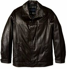 Tommy Hilfiger Men's Big and Tall Smooth Faux Leather Classic James Dean Jacket