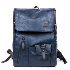 14INCHES Computer Bag Men's Bag PU Leather backpack travel bags Laptop Backpack