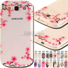 For Samsung Galaxy S3 Rubber Skin Protective TPU Soft Back Various Cover Case