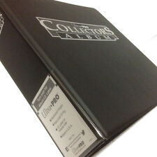 ULTRA PRO COLLECTORS RING ALBUM/BINDER - FOR A4 9 POCKET SLEEVES - BLACK/BLUE