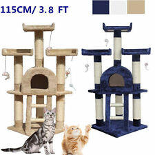 113CM Cat Tree Activity Centre Scratcher Scratching Post Sisal With Toy 3 Color