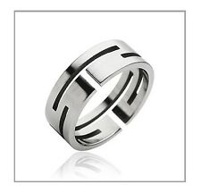 Uniquely Carved Stainless Steel Fashion Engagement Wedding Band Ring Sz 10-13