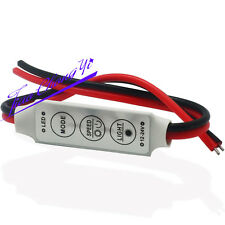 Mini 3 Keys Dimmer Controller DC 12V For Single Color 5050 3528 Led Light Strip