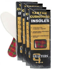Grafters Ladies Insoles Shoes, Boots & Trainers Tartan Latex Foam in Qty 4 Pairs