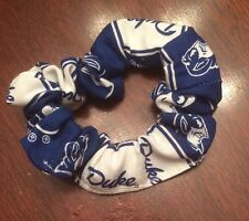 Hair Scrunchies Pony Tail Holder with University Fabric-FREE SHIPPING
