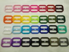 50x 1'' (25mm) - Wide Mouth Triglides Webbing Slides -Multi colors