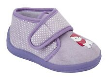 Childs Boys Slippers WHISKERS Textile Boots Velour Lilac