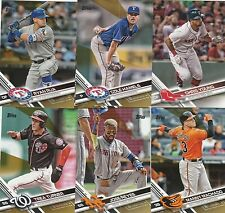 2017 TOPPS  SERIES 2 GOLD PARALLEL INSERT U-PICK COMPLETE YOUR SET (351 - 599)