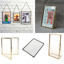 Retro Style Glass Hanging/Free Stand Picture Photo Frame Portrait Home Decor