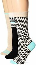 Timberland Womens Socks TW31708 Geo Pattern Crew Sock 3 Pk- Choose SZ/Color.