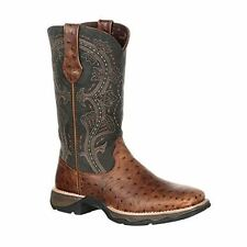 "Lady Rebel by Durango Women's 11"" Ostrich Embossed Pull-On Western Boot-DRD0149"