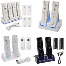 USA Nintendo Wii Remote Charger Charging Station + 2 Recharge Battery Packs Dock