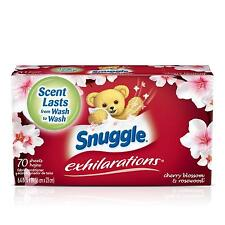 Snuggle Exhilarations Fabric Softener Dryer Sheets, Cherry Blossom Rosewood,...