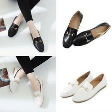 Women Pointed Toe Low Heel Slip On Loafers Moccasin Office Work Shoes Oxfords