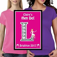 Personalized Hen Party Nights Blonde Sticker Iron on Transfer Polyester Tshirt