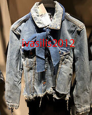 ZARA WOMAN DENIM JACKET WITH BOW BLUE SIZE: L REF. 5252/006
