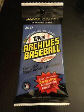 2017 ARCHIVES Baseball Auto/Autograph JUMBO HOT PACK!